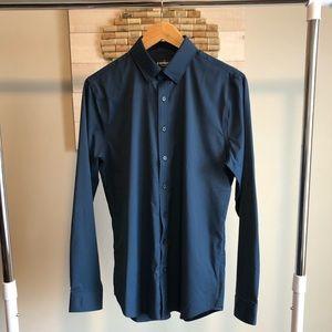 Express Slim Fit Print Dress Shirt